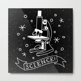 SCIENCE! - dark Metal Print