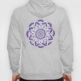 Ultraviolet Flower Mandala Hoody
