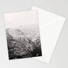 TRAVEL FAR to YOSEMITE (b&w)  Stationery Cards