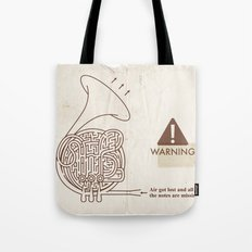 Horn players, watch out!! :P Tote Bag