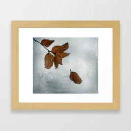 When the last leaves fall Framed Art Print