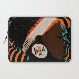 Zulu girl with zebraprint Laptop Sleeve