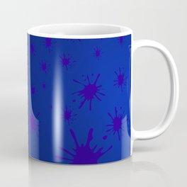 blue spots on blue background Coffee Mug