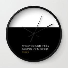 Bea Davis—Black Wall Clock