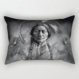 Black and white portrait-Sitting bull Rectangular Pillow
