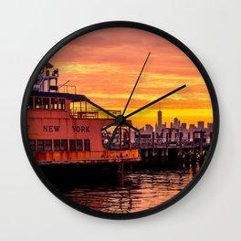 Ferry Boat John F. Kennedy Wall Clock