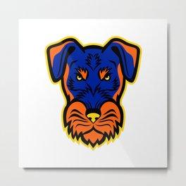 Jagdterrier Front Mascot Metal Print
