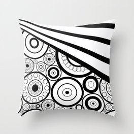 Abstract black and white pattern. Throw Pillow