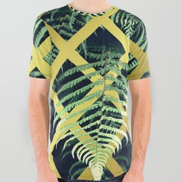 Fern Geometric Modern Illustration All Over Graphic Tee