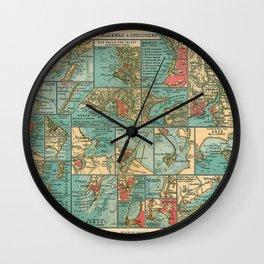 See Atlas 1906 - German Sea Atlas - Mediterranean and Indian Ocean Seaports; Venice, Messina, Bombay Wall Clock
