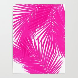 Palms Fuchsia Poster