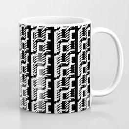 Black and white lines 2 Coffee Mug
