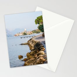 Lovely Malcesine town in Lake Garda, Italy Stationery Cards