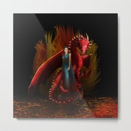 Queen of the Dragon iPhone, ipod, ipad, pillow case and tshirt Metal Print