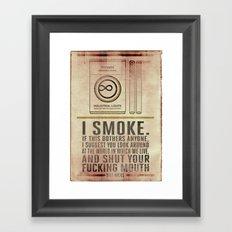 Smoking Bill Hicks… Framed Art Print