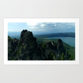 Paulina Peak Looks Out over the Newberry Volcano Valley near Bend Oregon Art Print
