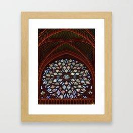 Rose Window Framed Art Print