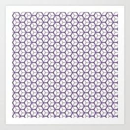 Cubed Pantone Purple Pattern Art Print