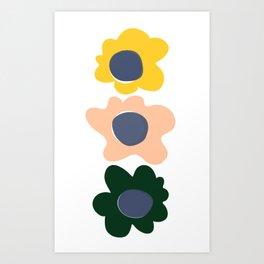 Bold happy flower  Art Print