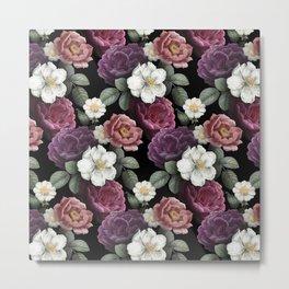 Floral Pattern Background Illustration Metal Print