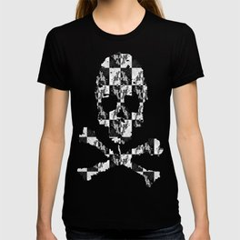 Swimming Glyphs and Sunflowers: Checkered Version T-shirt