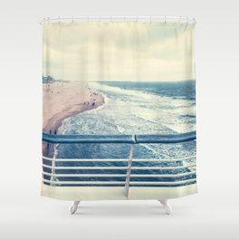 Beach at summer sunset Shower Curtain