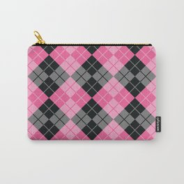 Pink Argyle Carry-All Pouch