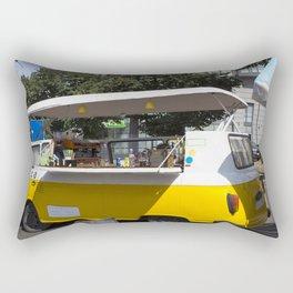 Bus Yellow Rectangular Pillow