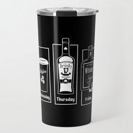 Coffee Whiskey Calendar Travel Mug
