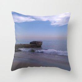 Beach Day in California Throw Pillow