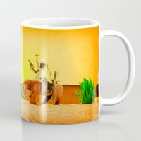 western Mugs featuring Western Boba by plopezjr
