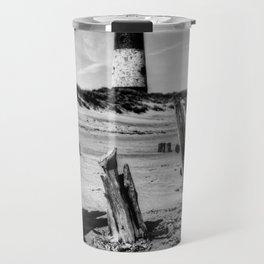 Spurn Point Lighthouse and Groynes Travel Mug