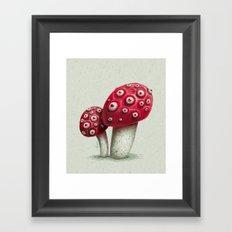 Mushroom Amanita Framed Art Print