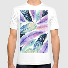 Wild Feathers #society6 #decor #buyart Mens Fitted Tee White MEDIUM