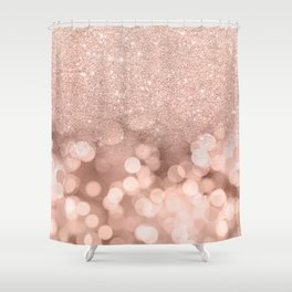 Modern rose gold glitter ombre pink rose gold bokeh sparkles Shower Curtain