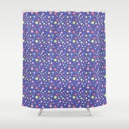 Spring Floral Blue Shower Curtain