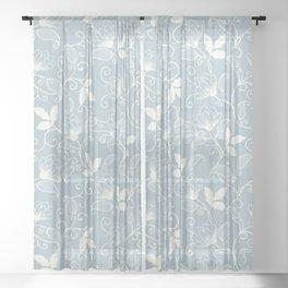 Elegant Floral Seamless Pattern Sheer Curtain
