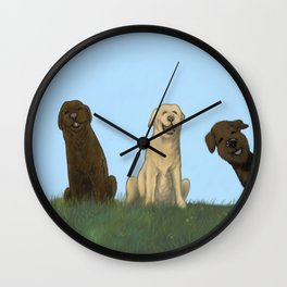 Augie Photo Bomb Wall Clock