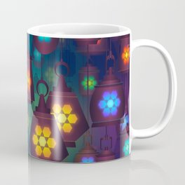 Colorful Lanterns Pattern Coffee Mug