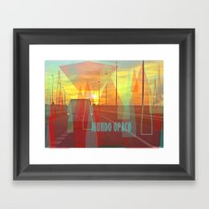 Opaque world Framed Art Print
