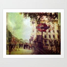 London Street Life Art Print