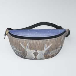 Hares and the Crescent Moon Fanny Pack