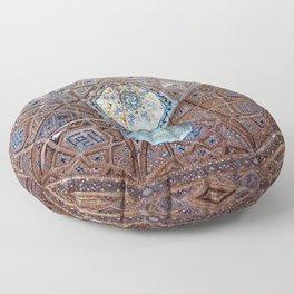 Ornamental Tile Mosaic Dome Ceiling Persian Art, Iran Floor Pillow