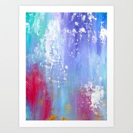 Soft Abstract Art Print