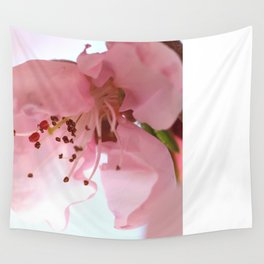 Pink Cherry Macro Photography Wall Tapestry