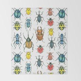 Beetles Throw Blanket