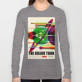 NASA Space Saturn Shuttle Retro Poster Futuristic Explorer Long Sleeve T-shirt