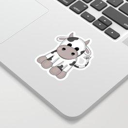 Cuddly Cow Sticker