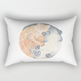 Yin Yang Cats Rectangular Pillow
