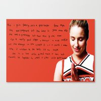 glee Canvas Prints featuring glee 2 by Willow Summers